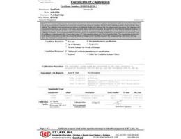 NIST Traceable Calibration Cert (Included)
