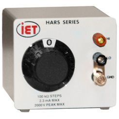 HARS-X2-1-1M High Power Resistance Decade Box