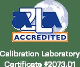 AZLA Accredited Calibration Laboratory Certificate #2073.01