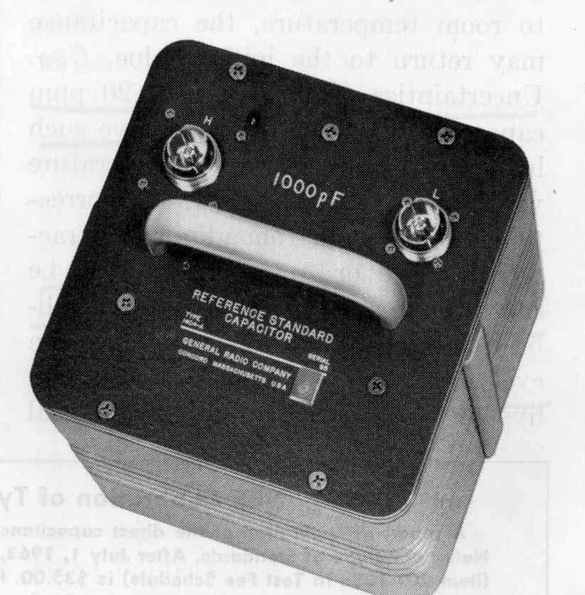 Estándar de capacitancia GenRad 1404