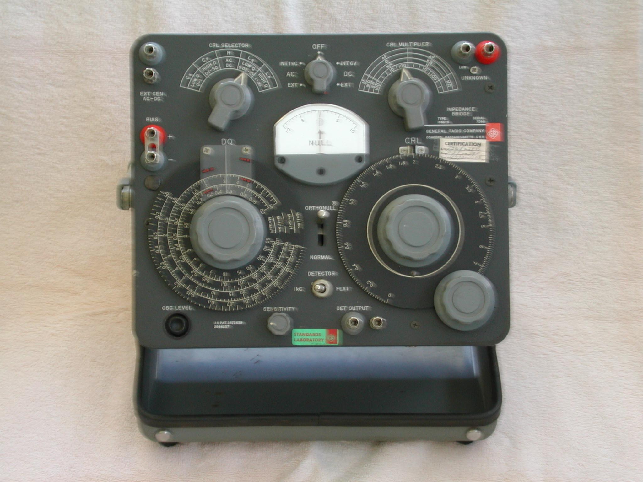 Type 1650-A Impedance Bridge