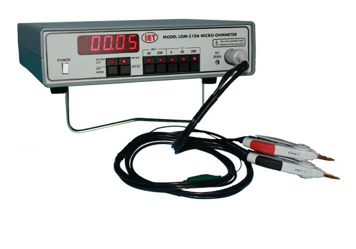 Ohmmeter Good Measurements And A High Low : Megger bd mom hand held a micro ohmmeter tequipment